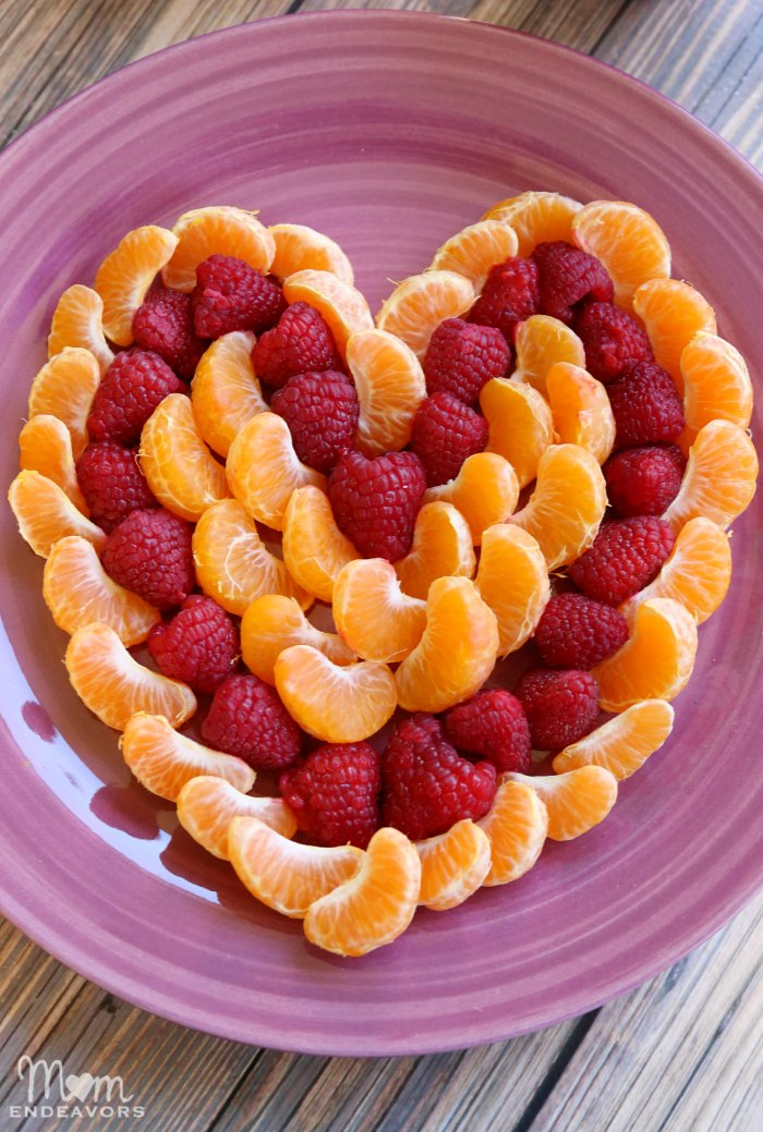 Healthy Valentine's Treat Heart Fruit Platter