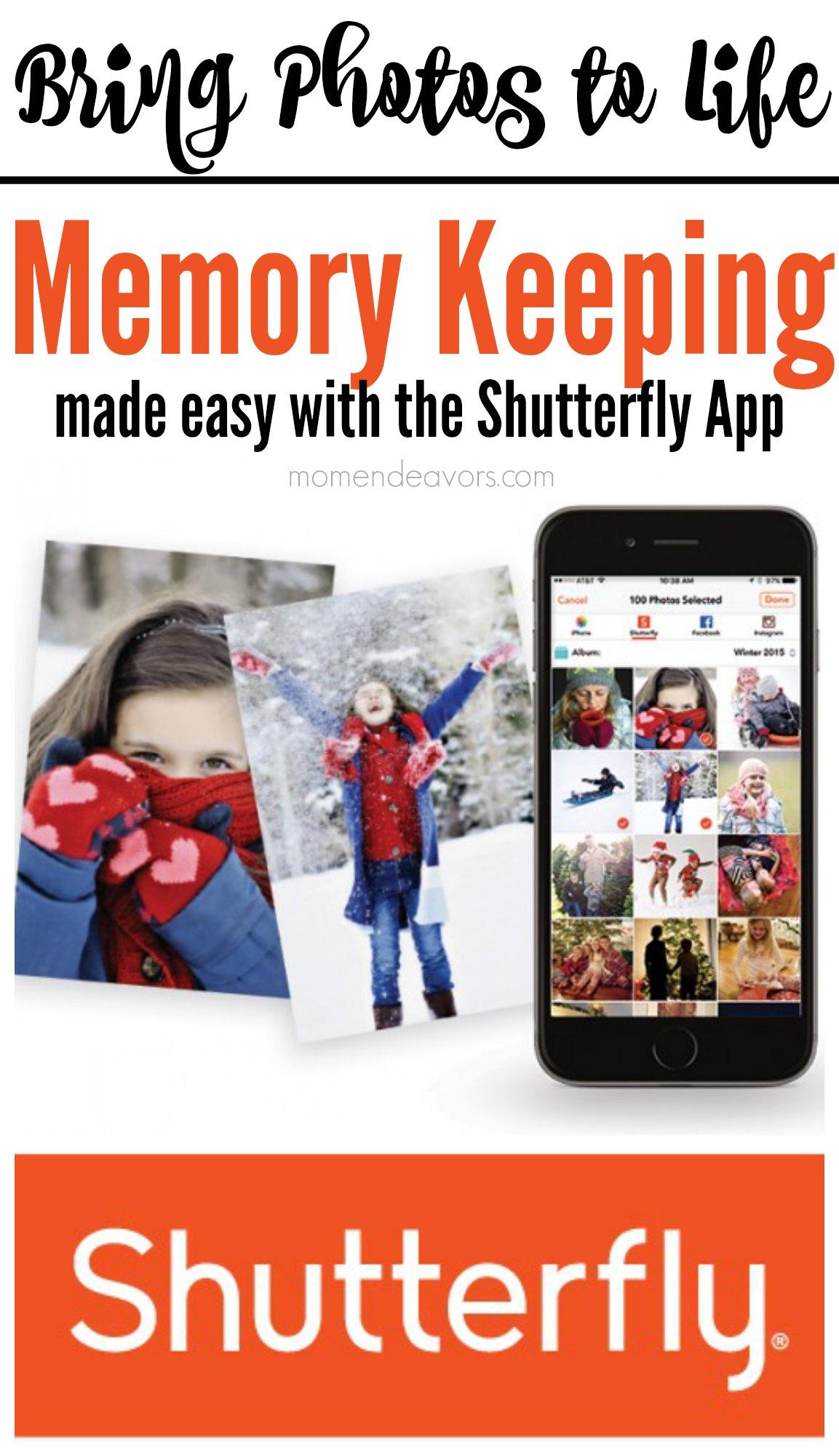 Memory Keeping Shutterfly App
