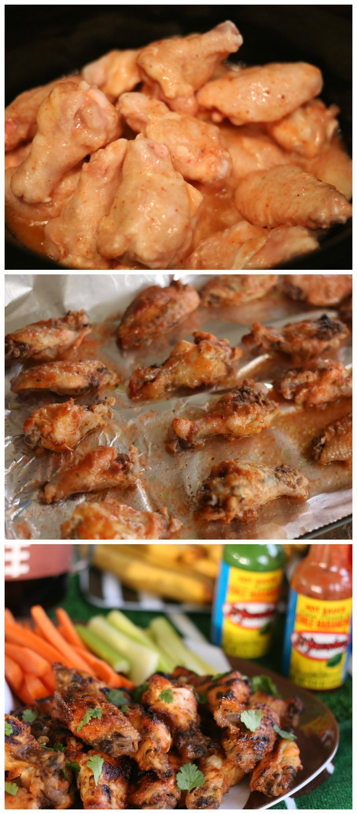 Slow Cooker Honey Habanero Hot Wings