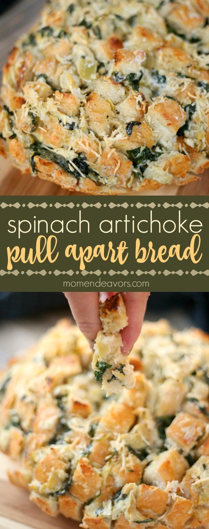 Spinach Artichoke Pull Apart Bread Recipe