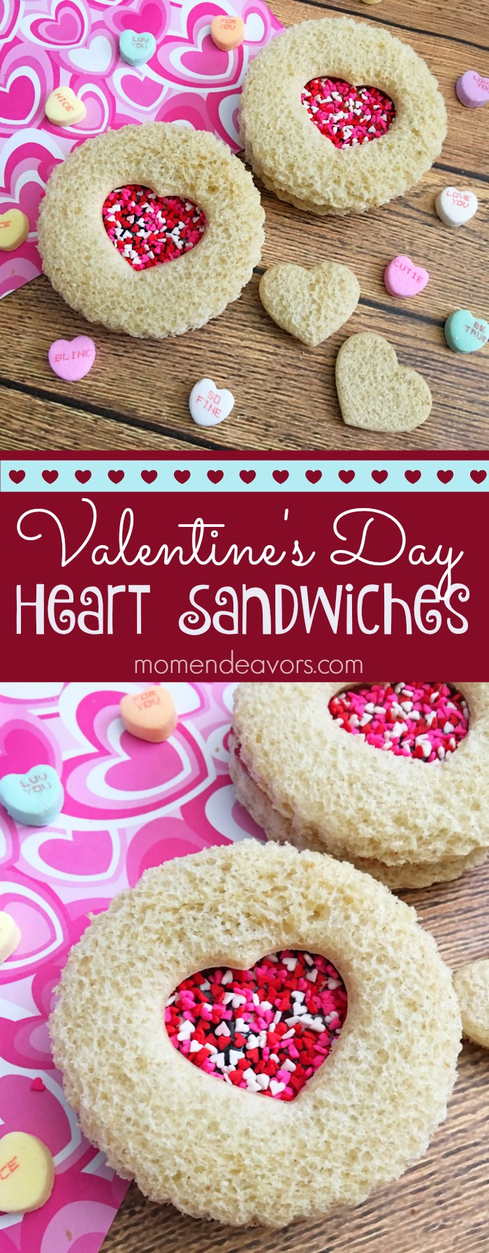 Valentine's Day Heart Sandwiches