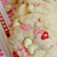 Easy White Chocolate Chip Valentine's Cookies