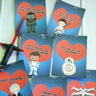 Free Printable Star Wars: The Force Awakens Cute Valentine's Cards