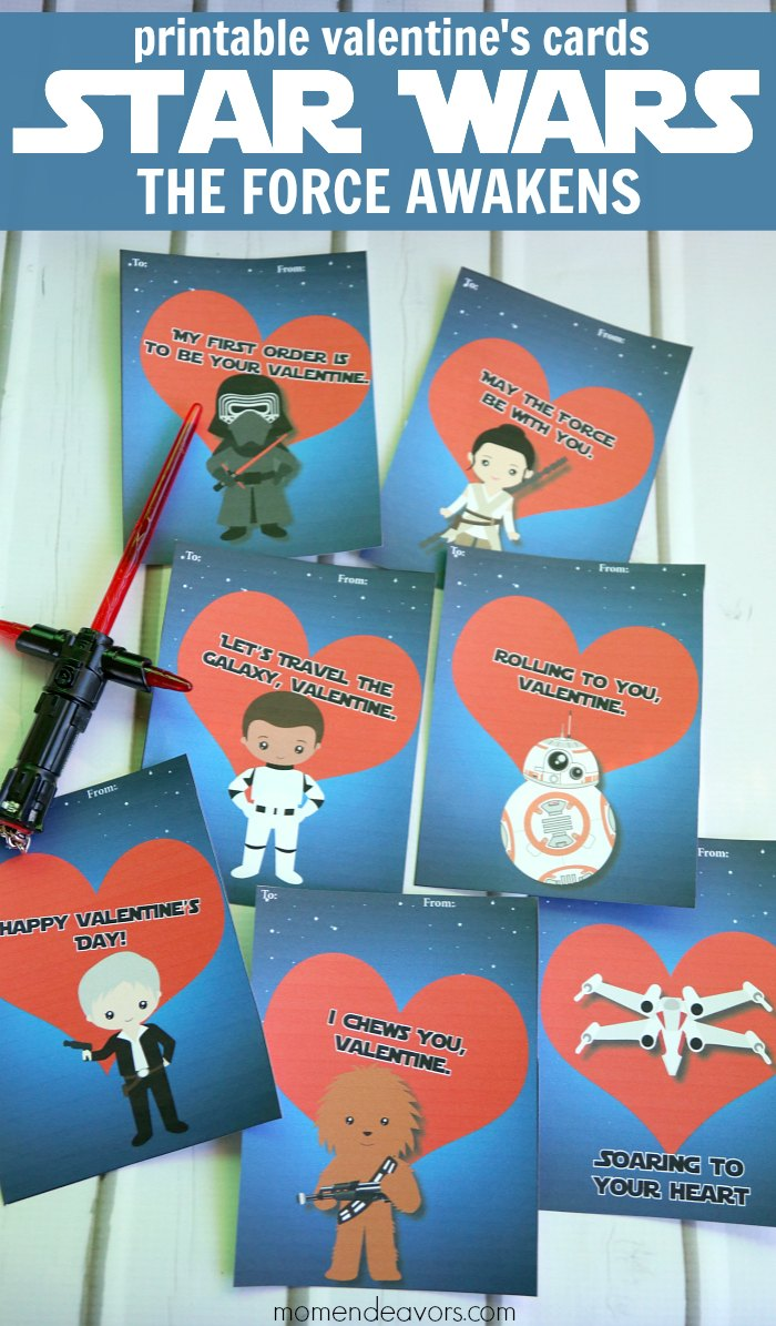 printable Star Wars the Force Awakens Valentine's Cards