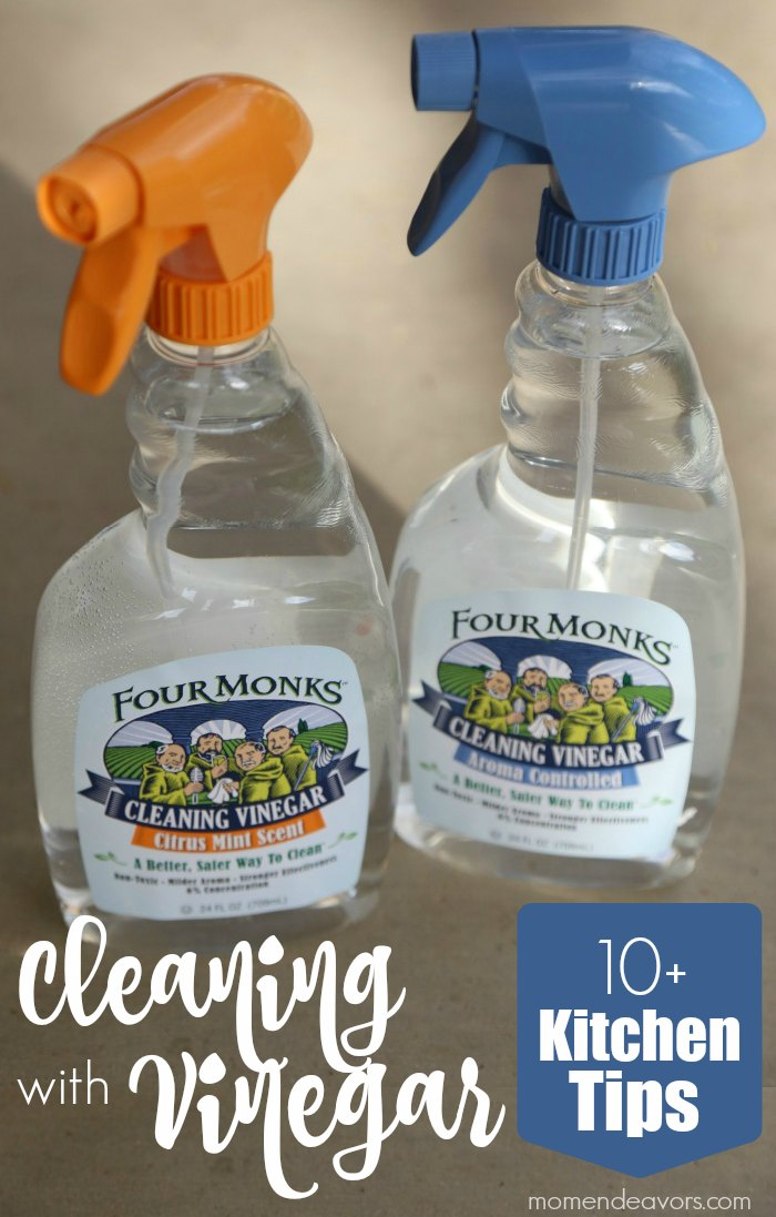 10+ Kitchen Tips for Cleaning with Vinegar