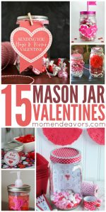 DIY mason jar valentines