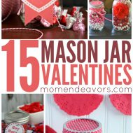 15+ DIY Mason Jar Valentine's Crafts
