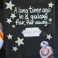 DIY Glow in the Dark Star Wars BB-8 Canvas