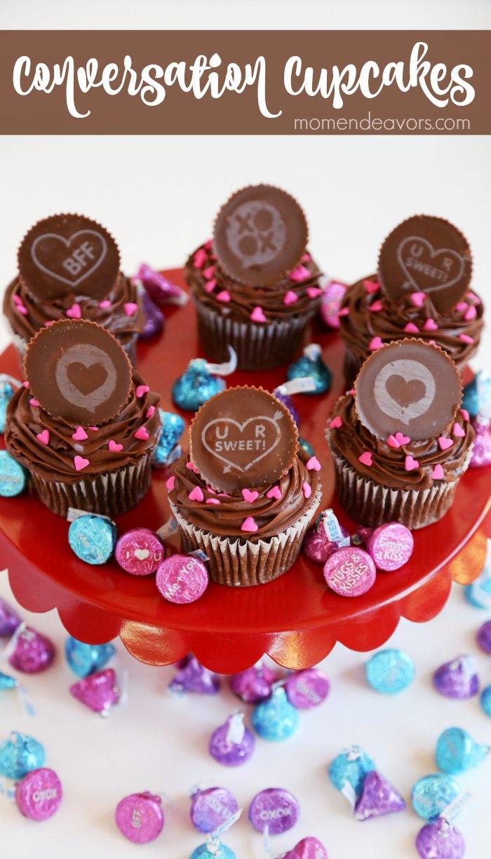 Conversation Valentine's Cupcakes