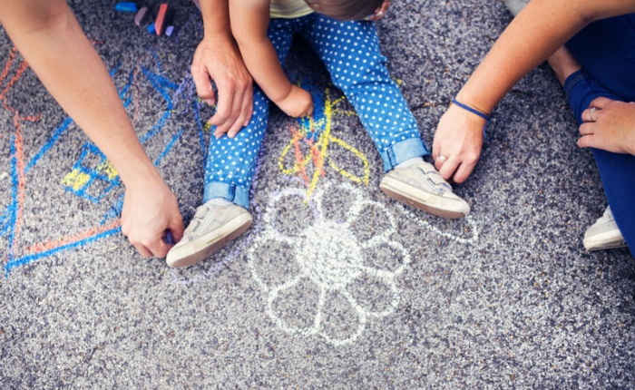 Family Chalk Drawings