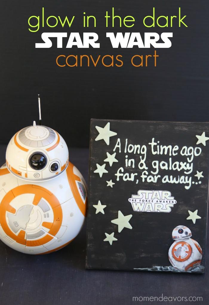 Glow in the Dark Star Wars Canvas Art