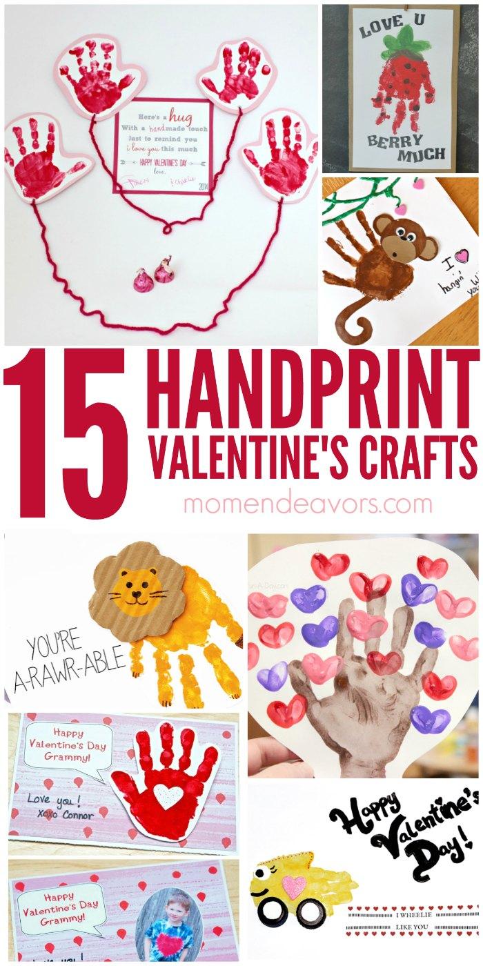 Handprint Valentine's Day Crafts