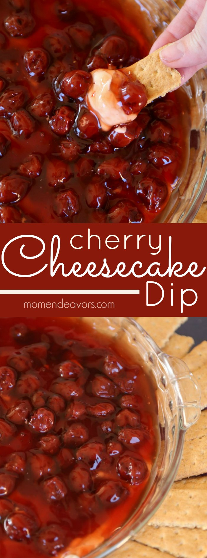 No-bake cherry cheesecake dip