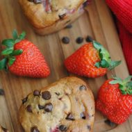 Strawberry Banana Chocolate Chip Muffins