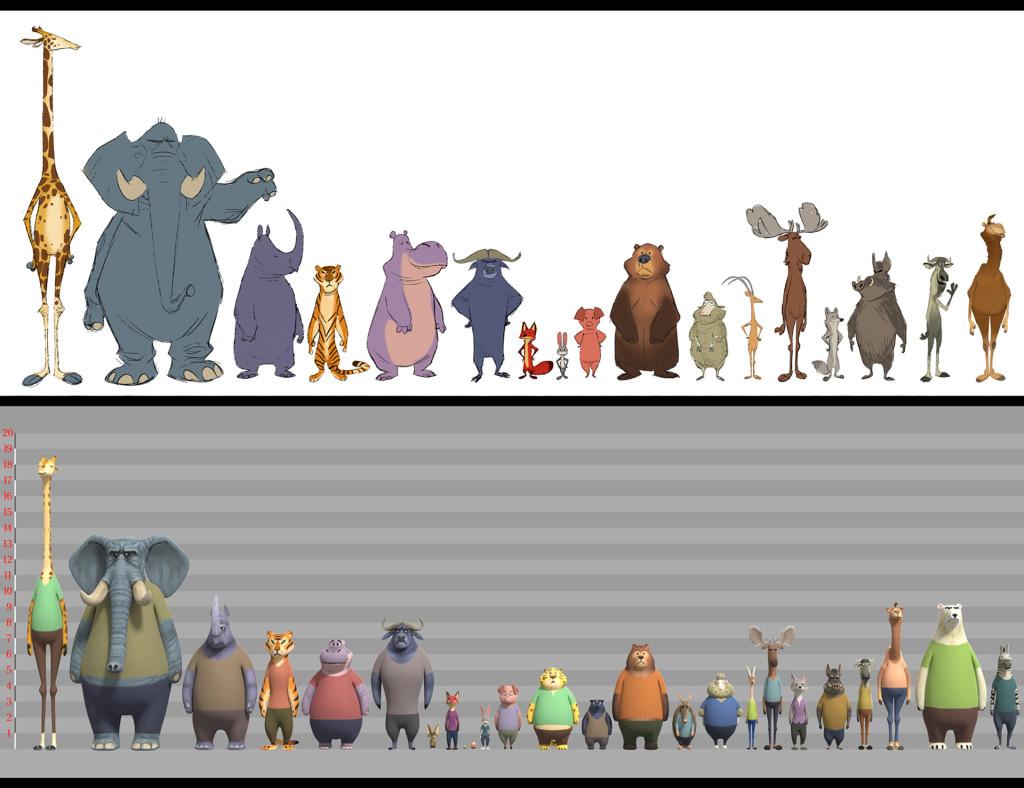 zootopia animal lineup
