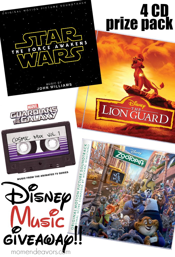 Disney Music Giveaway Prize Pack