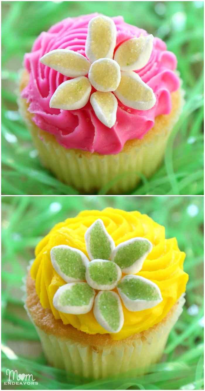 Easy Foral Cupcakes