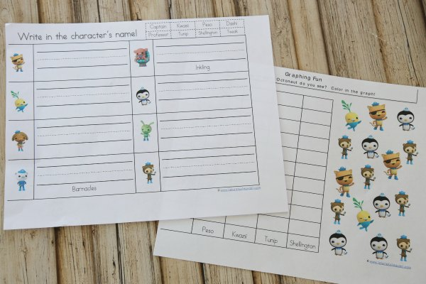 Octonauts Worksheets