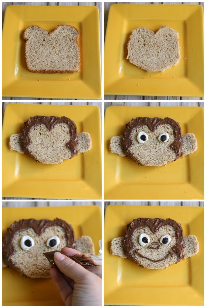 Making a Curious George Sandwich