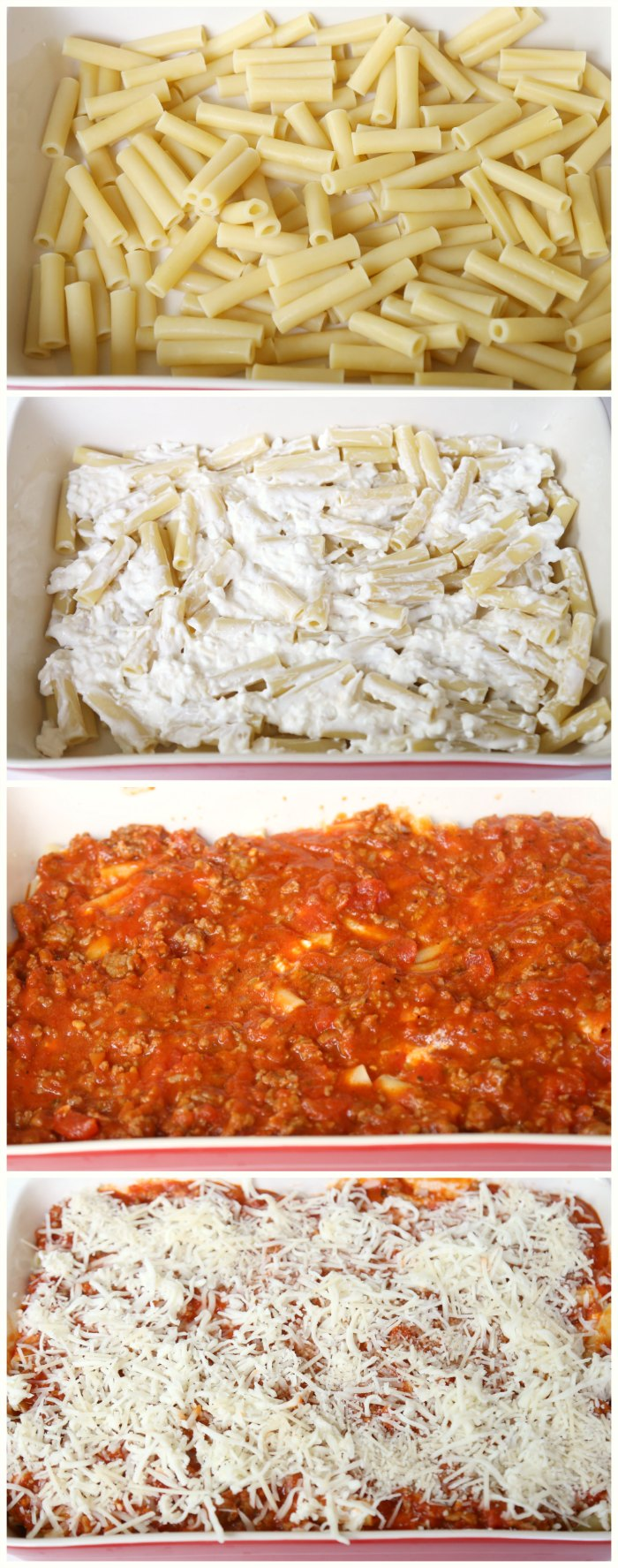 Making baked ziti