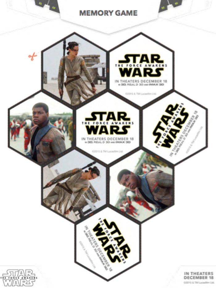 Star Wars Force Awakens Memory Game