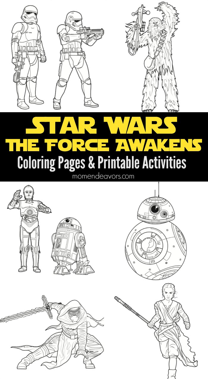 Star Wars The Force Awakens Printable Activities