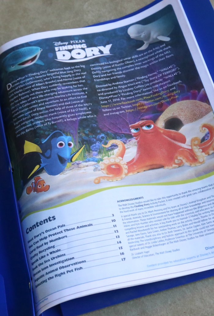 DIY Finding Dory Ocean Animals Book
