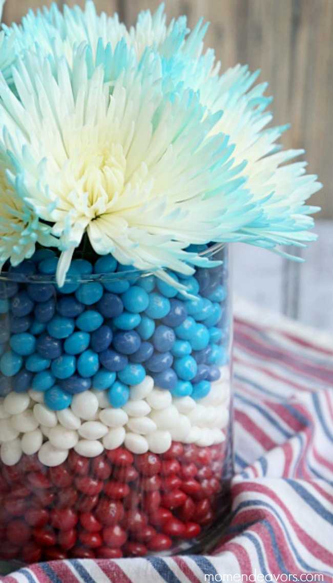 DIY Floral Patriotic Centerpiece