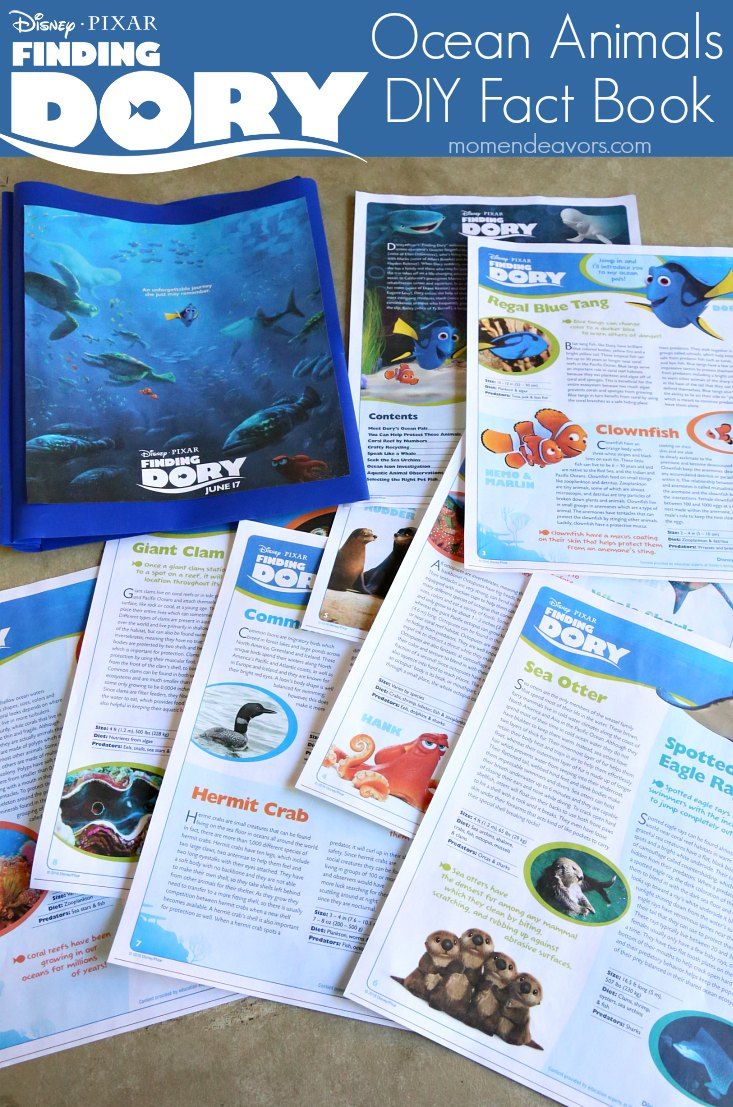 Finding Dory Ocean Animals Fact Book