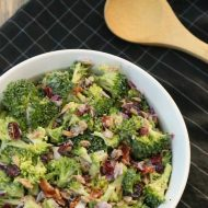 Lighter Broccoli Cranberry Salad
