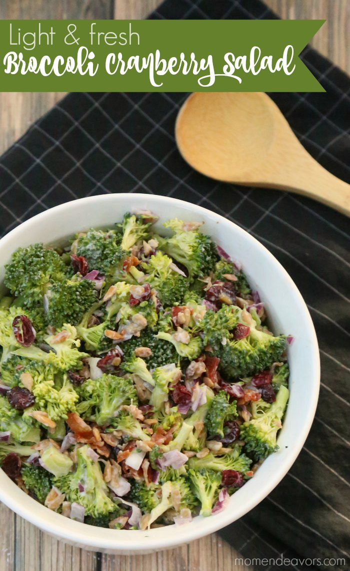 Lighter Broccoli Salad