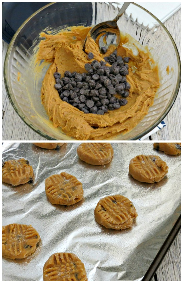 Making peanut butter cookies