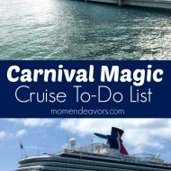 Carnival Magic Cruise To-Do List