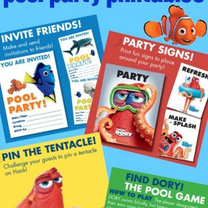 Finding Dory Pool Party Printables