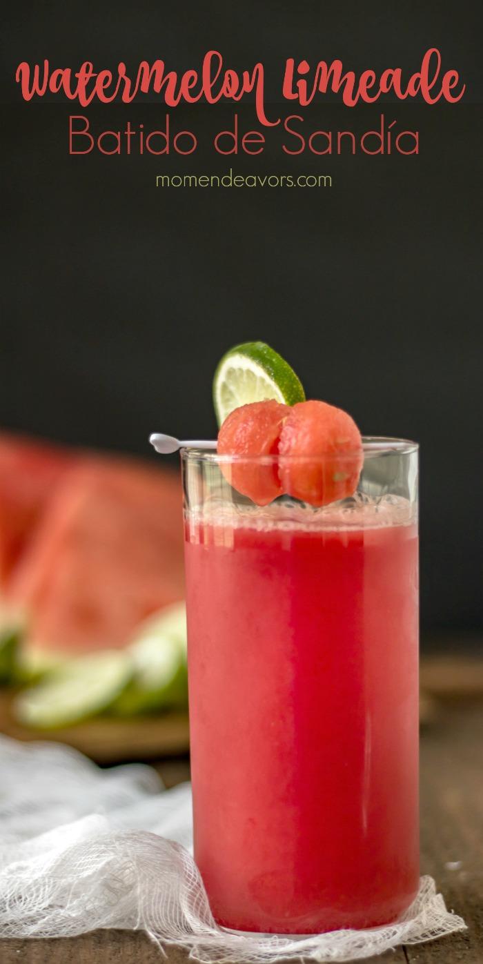 Watermelon Limeade Batido de Sandía