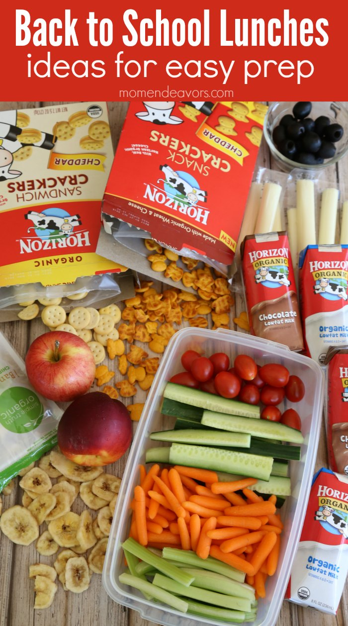 Back to School Lunches Easy Prep