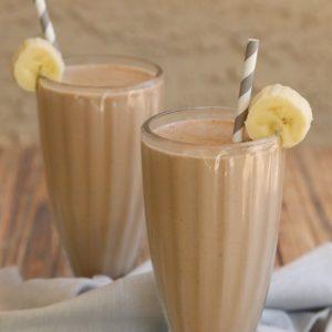 Healthier Chocolate Peanut Butter Banana Milkshake