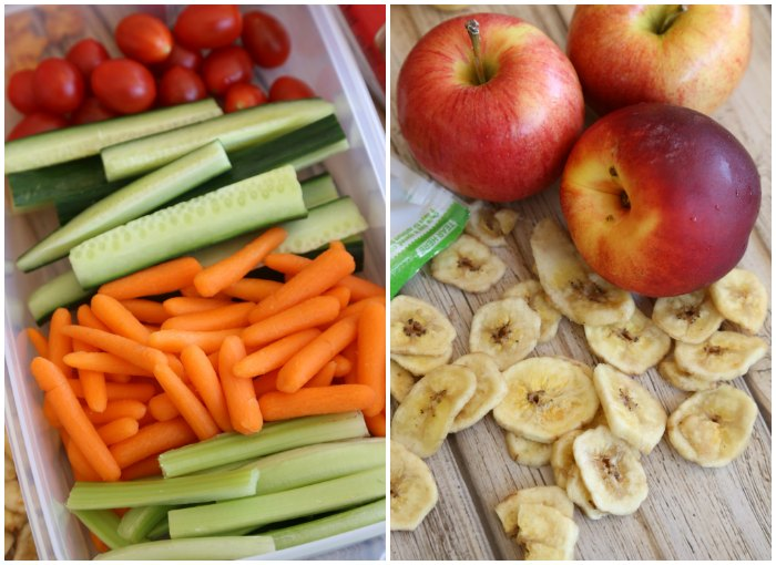 School lunch fruit & veggies