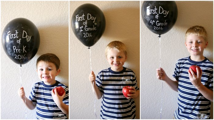 Back to School Balloon Photos