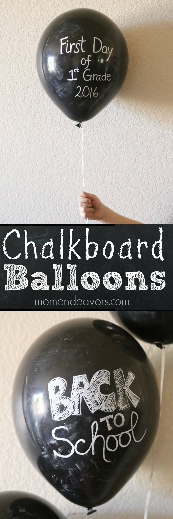 Back to School Chalkboard Balloons