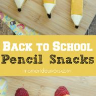 Back to School Edible Pencil Snacks
