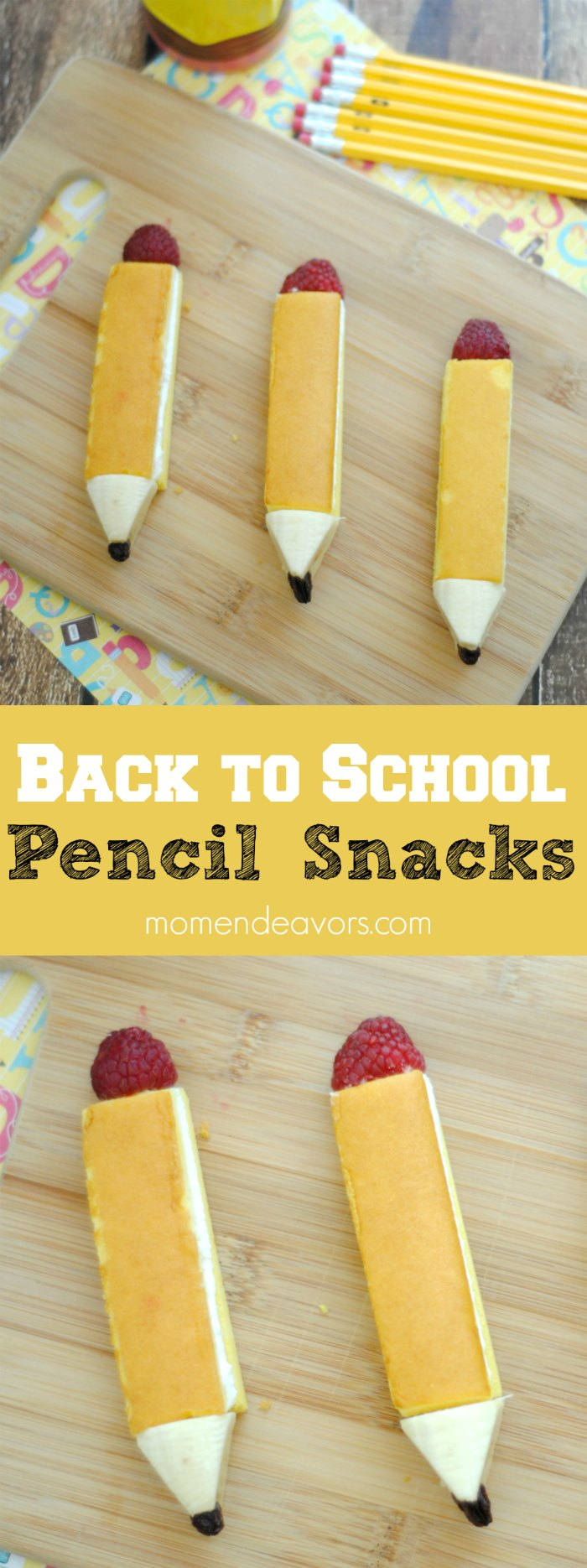 Back to School Pencil Snacks Fun Food