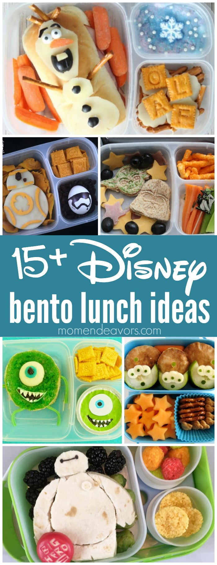 Disney Bento Lunch Ideas