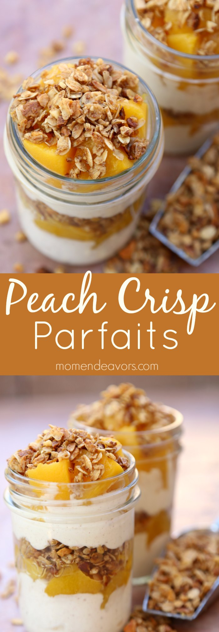 Easy Peach Crisp Parfaits