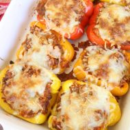 Cheesy Homestyle Italian Stuffed Peppers