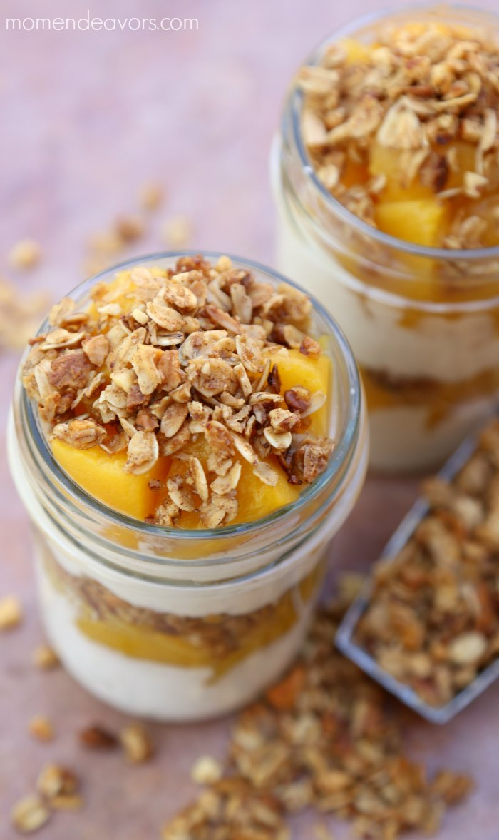 Peach Crisp Yogurt Parfait