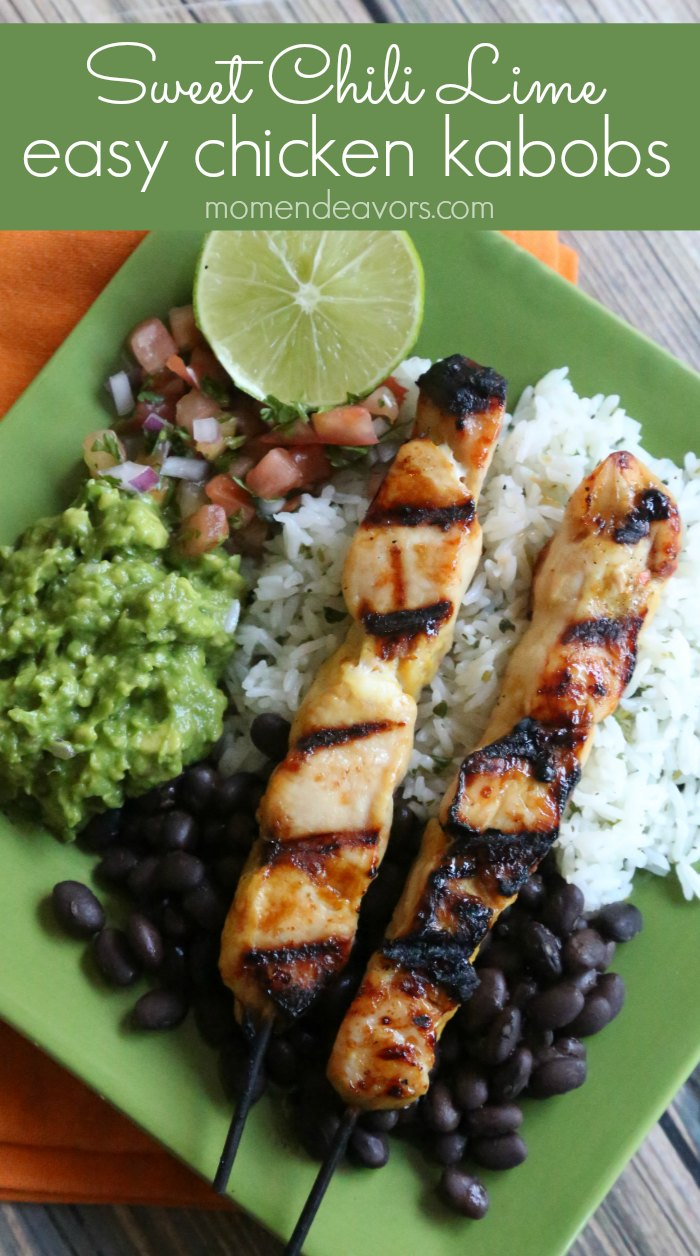 Sweet Chili Lime Chicken Kabobs