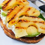 Pineapple Avocado Breakfast Toasts