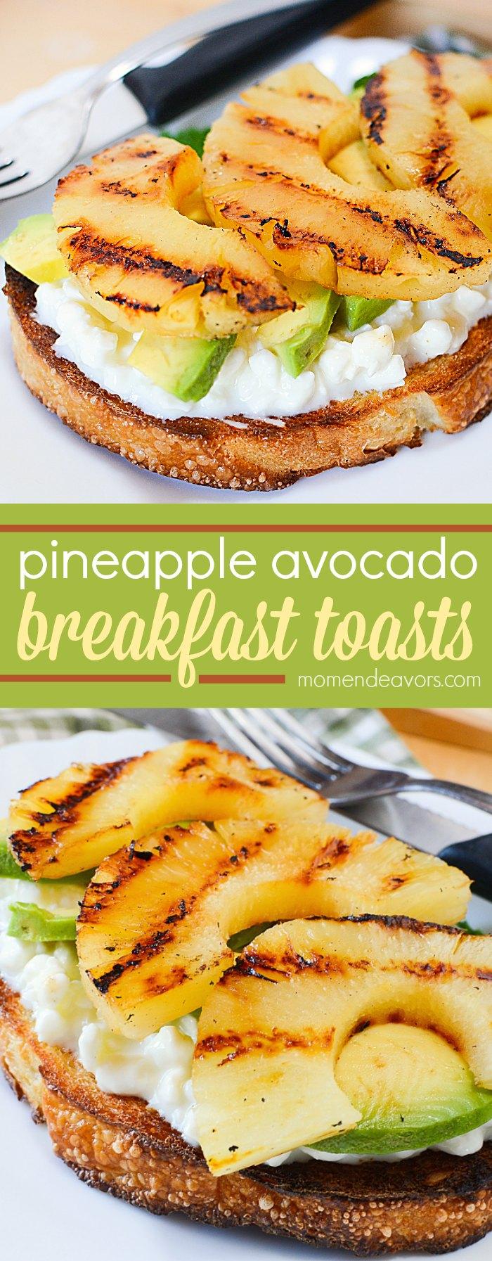 pineapple avocado breakfast toast breakfast recipe