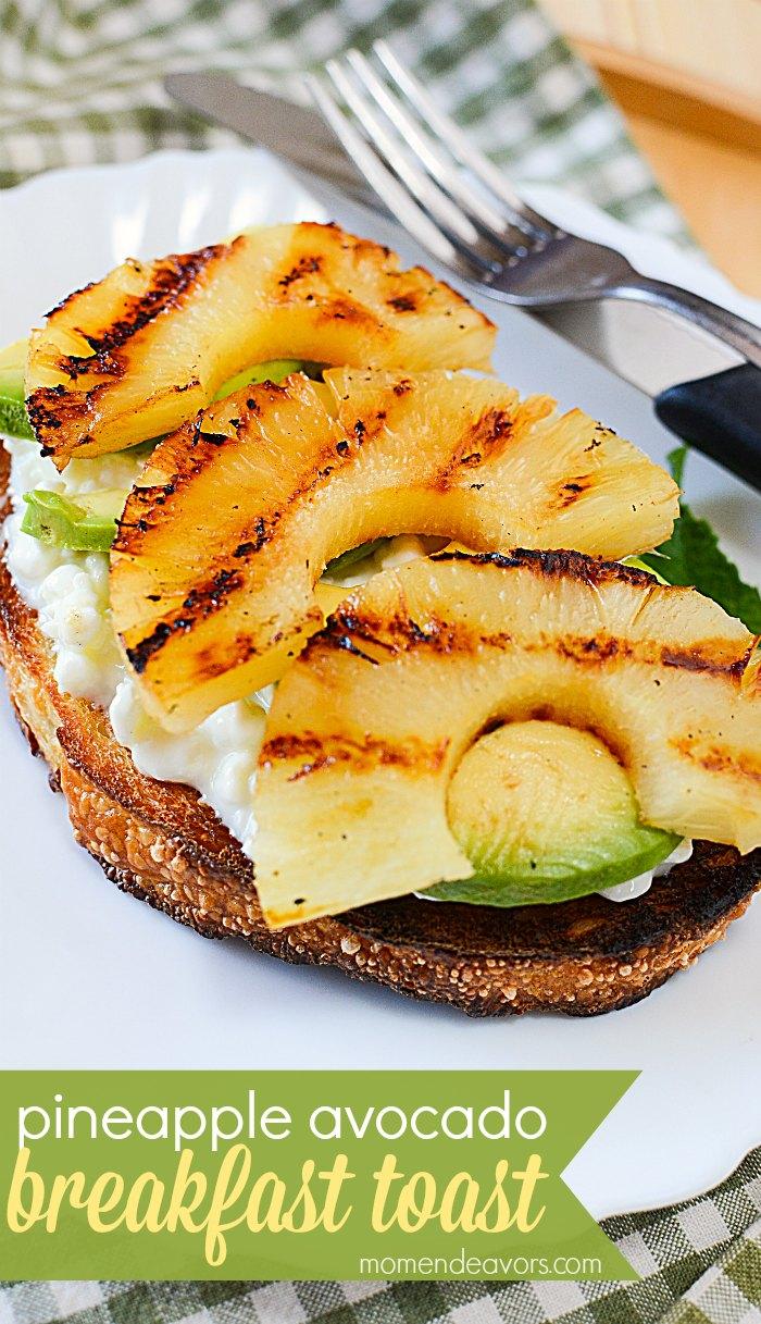 pineapple avocado breakfast toast
